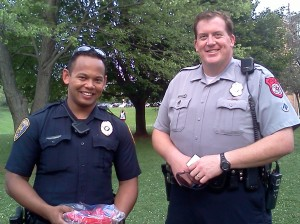 JMUPD Officer Jones and HPD DARE Officer Gangloff