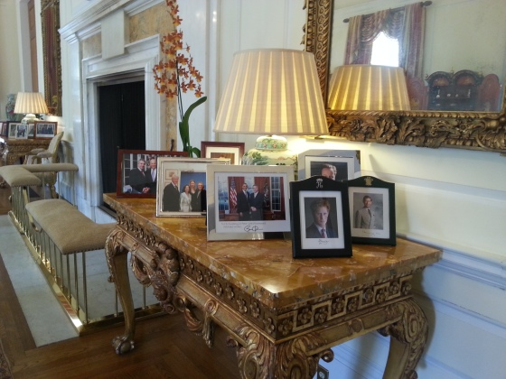 Photo Table in the British Embassy
