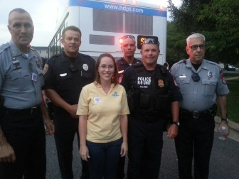 Jessica with HPD Officers