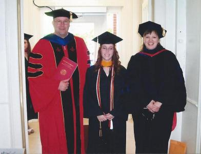 Jessica with Dr. P & Dr. L