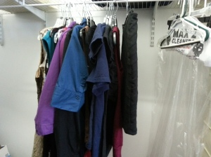 This entire space was full (but no, it's not all the clothes I'm taking!)