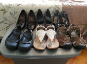 Less than 1/2 of the shoes I had 6 months ago